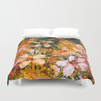 valentina Duvet Covers featuring Tropical Summer by RIZA PEKER