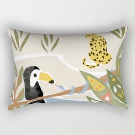 The Jungle Jumbos Rectangular Pillow