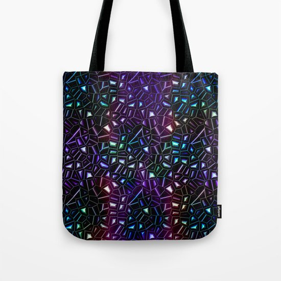 Midnight Rainbow Glitter Tote Bag