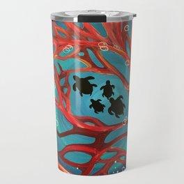 Fire Coral Travel Mug