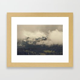 Mountains through the Fog Framed Art Print