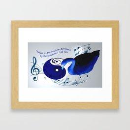 Music in the soul Framed Art Print