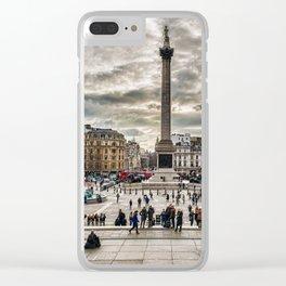 London Trafalgar Square art by @balazsromsics Clear iPhone Case