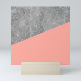 Coral Pink Concrete Mini Art Print