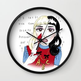 melanie's alphabet boy fan art Wall Clock