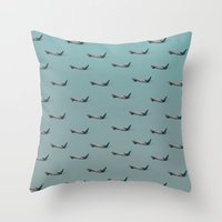 planes Throw Pillows featuring Planes by Oscar Lagunah