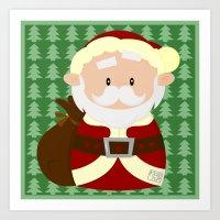 santa Art Prints featuring Santa by Alapapaju
