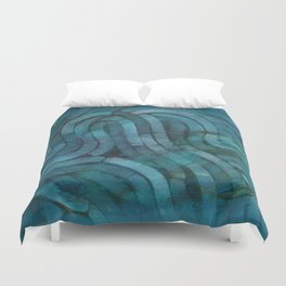 'Careful Where You Stand, In Aquamarin' Duvet Cover