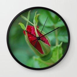 Victorian Rosebud Wall Clock