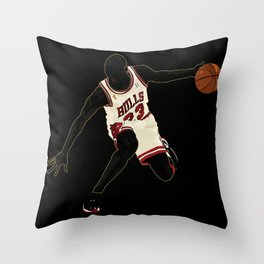 Jordan A Design Poster of Air Jordan 1's 23 Throw Pillow