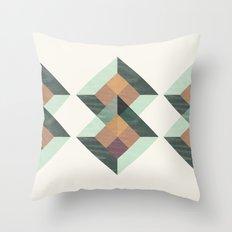 Translucent geometry Throw Pillow