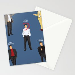 The Usual Suspects, Kevin Spacey, minimalist movie poster, Gabriel Byrne, Singer, Benicio Del Toro, Stationery Cards