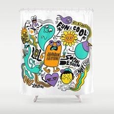 Fun & Cool Shower Curtain