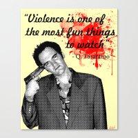 tarantino Canvas Prints featuring Tarantino by Ryan Bauer/Gawk