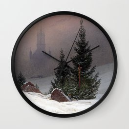 Caspar David Friedrich Winter Landscape Wall Clock