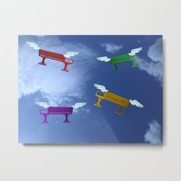 Winged Benches. Metal Print