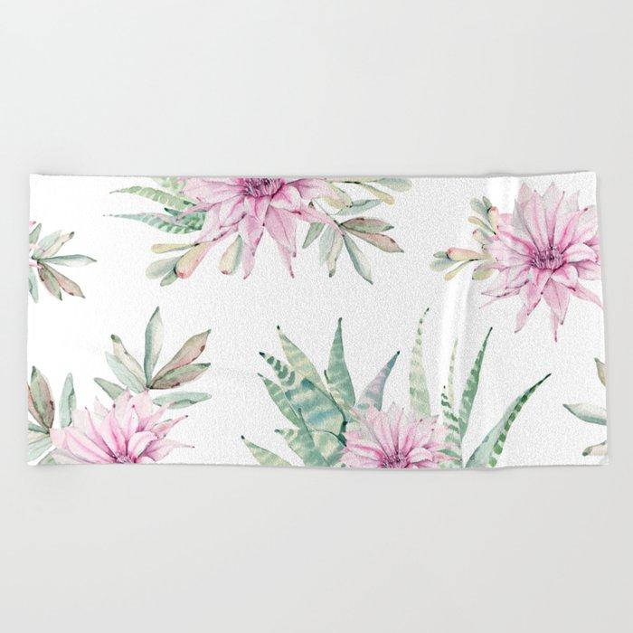 Simply Cactus Desert Rose Beach Towel