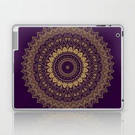 Harmony Circle of Gold on Purple Laptop & iPad Skin