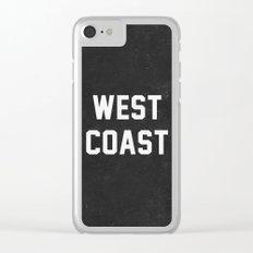 West Coast - black version Clear iPhone Case