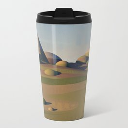 Geometric Landscape Metal Travel Mug