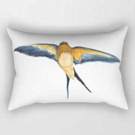 Andorinha Spring Bird - Barn Swallow illustration Rectangular Pillow