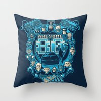 80s Throw Pillows featuring AWESOME 80s by Letter_q
