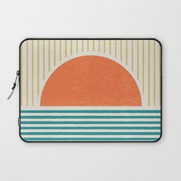 Sun Beach Stripes - Mid Century Modern Abstract Laptop Sleeve