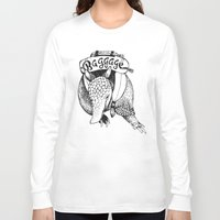 backpack Long Sleeve T-shirts featuring Baggage Armadillo by Nat Osorio