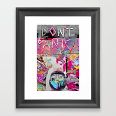 Systematic 'No Panic' Framed Art Print