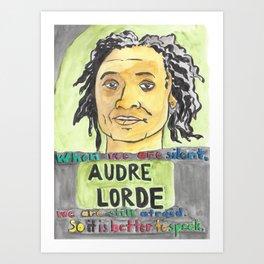 Audre Lorde - Badass Woman Portrait Art Print