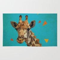 giraffe Area & Throw Rugs featuring giraffe by gazonula