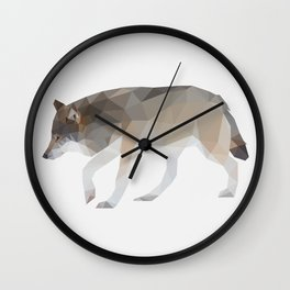 Wolf Low Poly Art Wall Clock