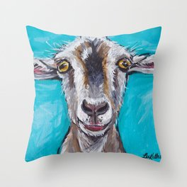 Goat Painting Throw Pillows Society6