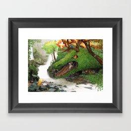 Forest Dragon Framed Art Print