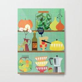 kitchen shelf 02 Metal Print