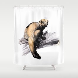 Totem Pekan (Martes pennanti) Shower Curtain