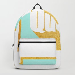 Queen of New York (Mint & Gold) Backpack