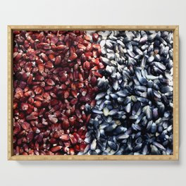 Red and black corn Serving Tray