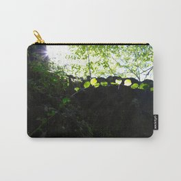 Sun through the trees in the woods Carry-All Pouch
