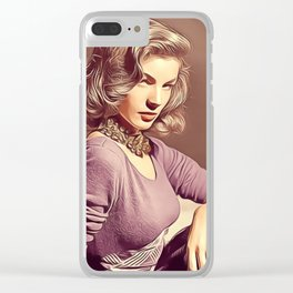 Lauren Bacall Clear iPhone Case
