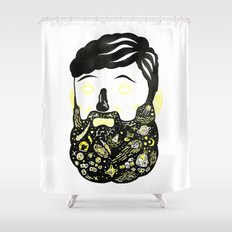 Space Beard Guy Shower Curtain