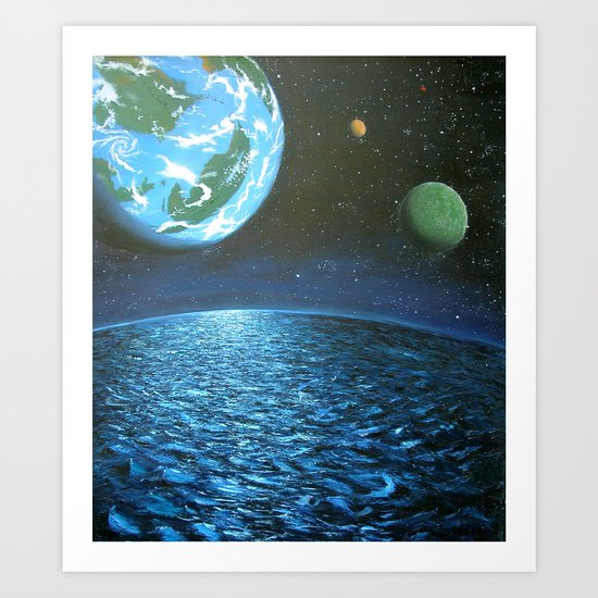 another earth Art Print