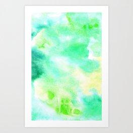 Aguacolor green fantasy Art Print