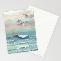 Paper seagulls Stationery Cards