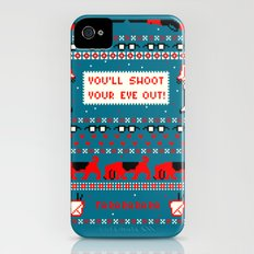 A Christmas Sweater (Blue) iPhone (4, 4s) Slim Case