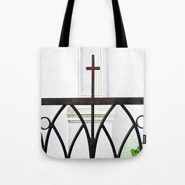 Church Fence Tote Bag