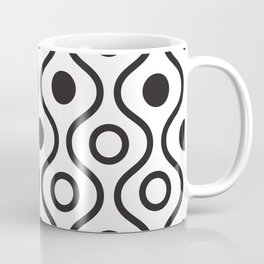 Lines and circles background. Coffee Mug