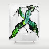 middle earth Shower Curtains featuring Meet in the Middle by Lani Harmony