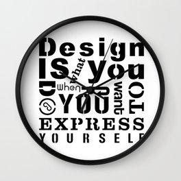 Design is Wall Clock