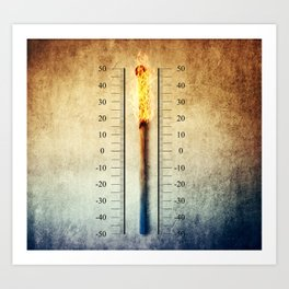 matchstick thermometer Art Print